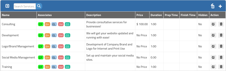 GigaBook Services Manager, Editor