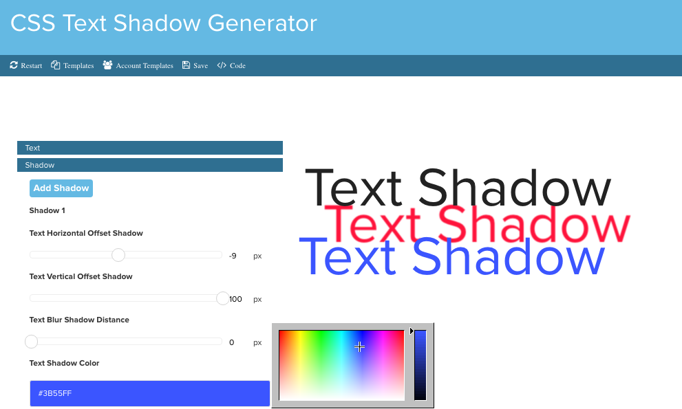 CSS Text Shadow Generator