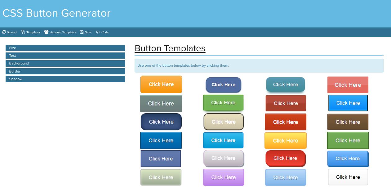 CSS Button Generator | GigaBook