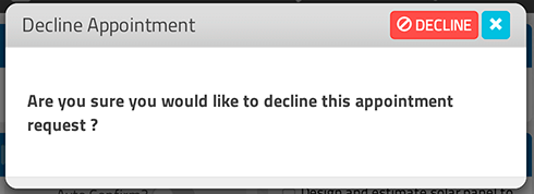 Decline Appointment Request, GigaBook