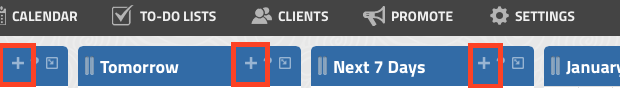 New Appt from Dashboard