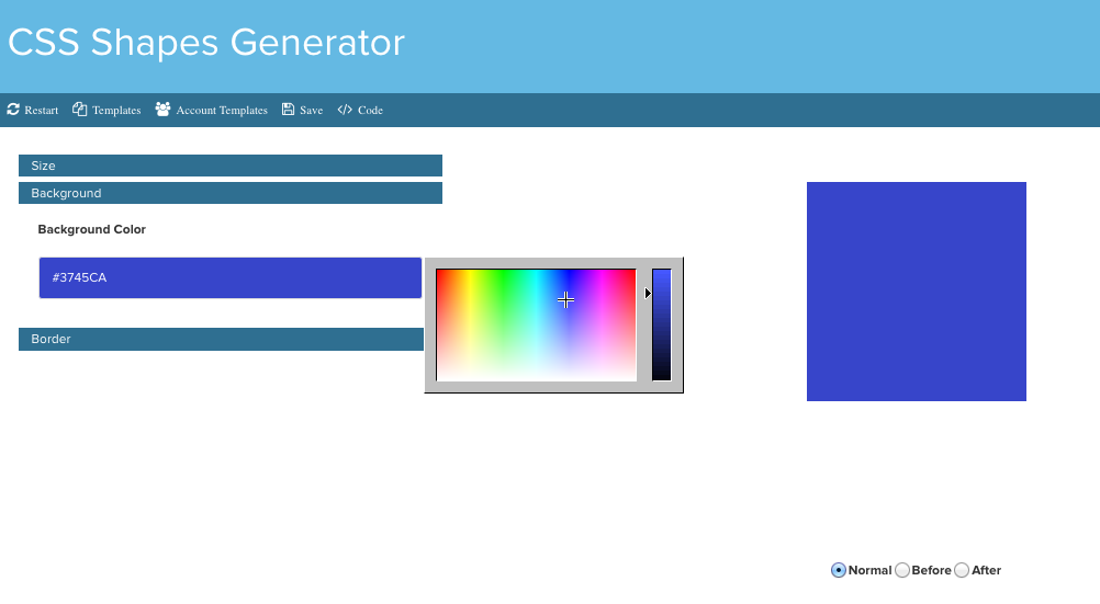 CSS Shapes Generator