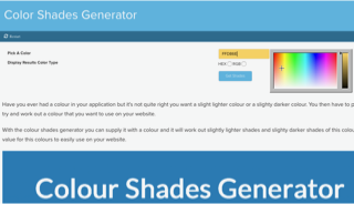 CSS Color Shades Generator