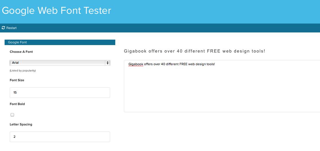 Google Web Font Tester