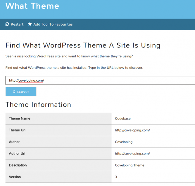 What Theme WordPress Tester